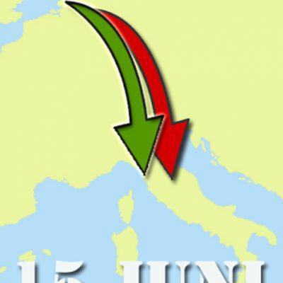 Vanaf 15 juni reizen naar Italie officieel toegestaan
