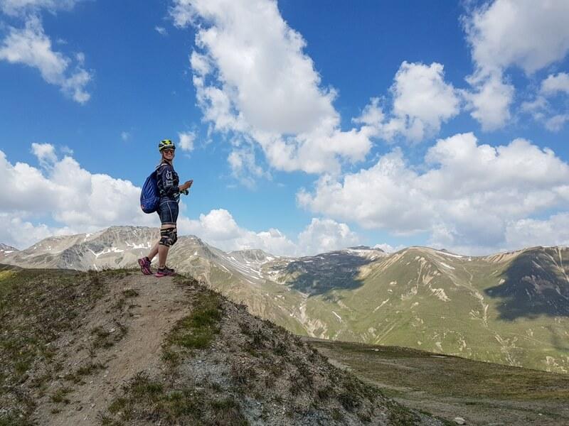 Livigno bovenop de berg © Claudia Zanin