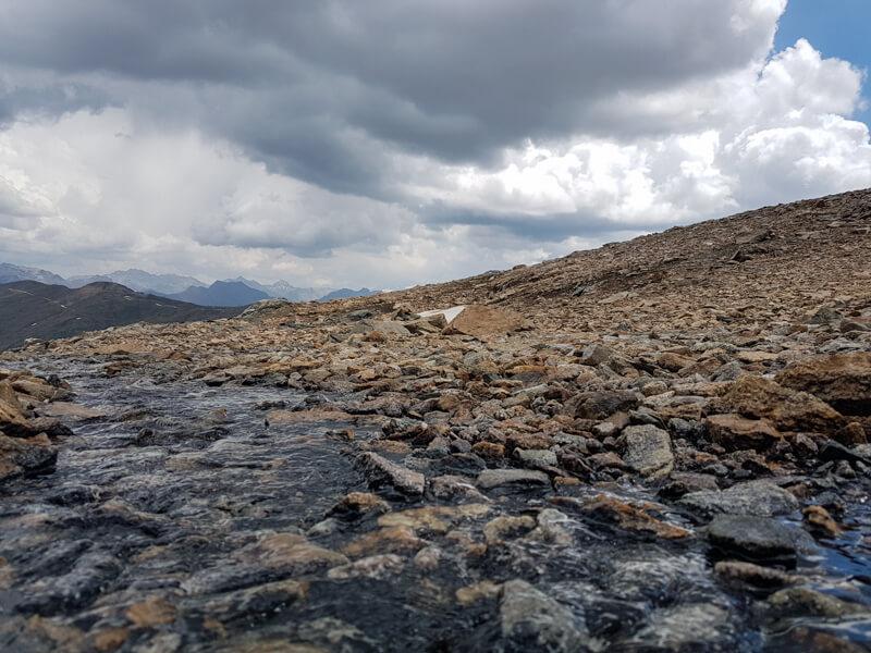 bovenop de berg in Livigno © Claudia Zanin