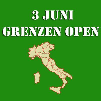 Italiaanse grens open vanaf 3 juni 2020
