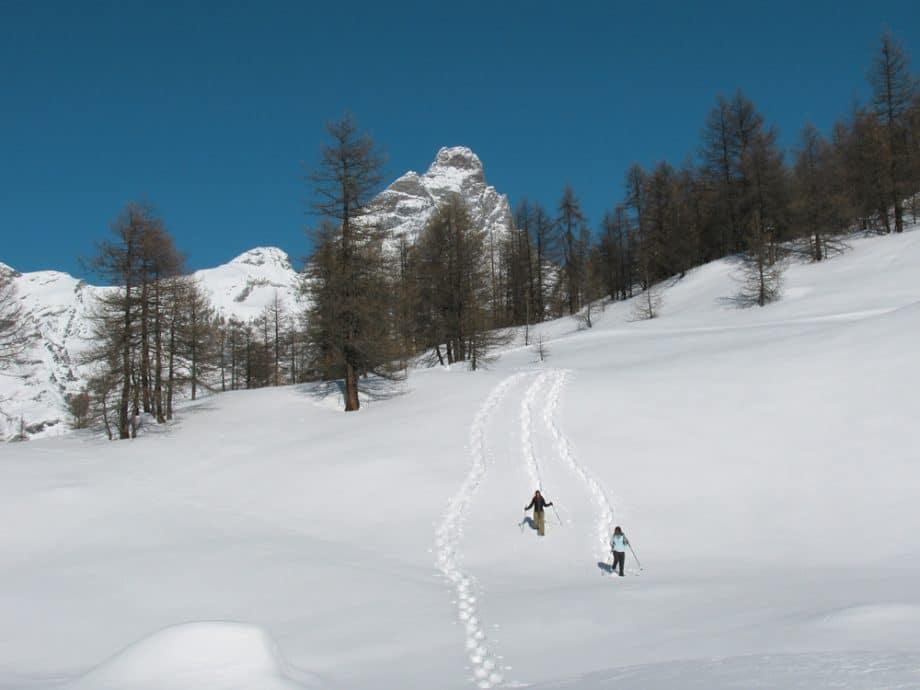 's winters wandelen met sneeuwschoenen