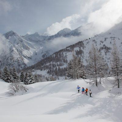 Sneeuwschoenwandelen in de Italiaanse bergen