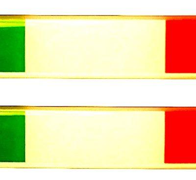 Dooming stickers 75 x 12 mm Italiaanse vlag - Uitverkoop