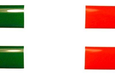 Dooming stickers 55 x 7 mm Italiaanse vlag - Uitverkoop