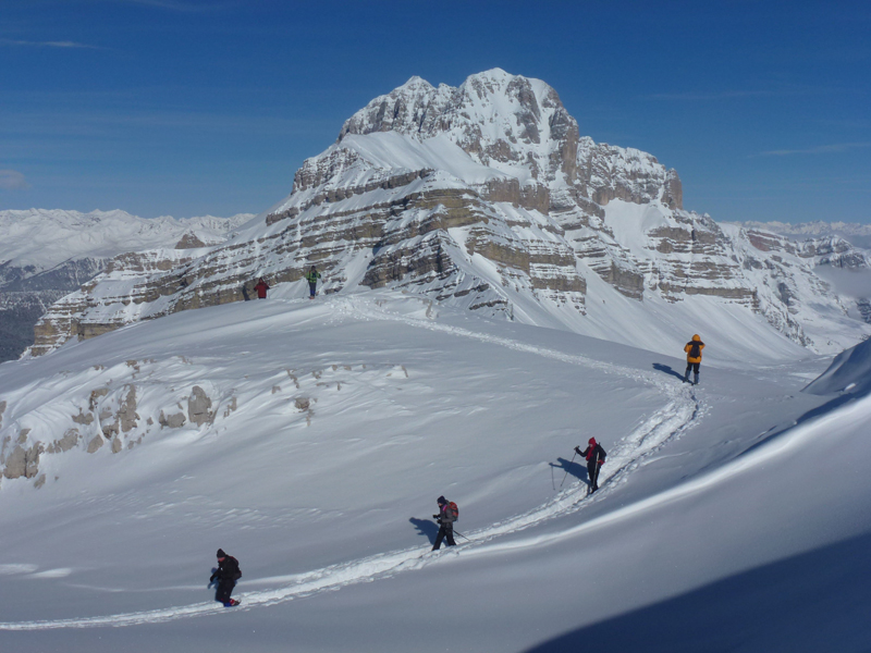 sneeuwschoen wandelen met alpengidsen, Guide Alpine in Val di Sole