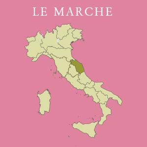 Kaart van Le Marche