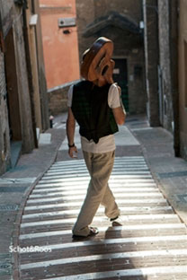Straatmuzikant in Perugia tijdens Umbria Jazz