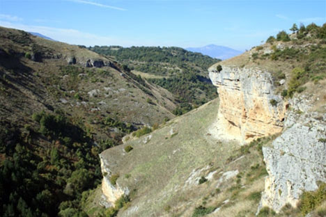 Prachtig uitzicht over Valle Giumentina