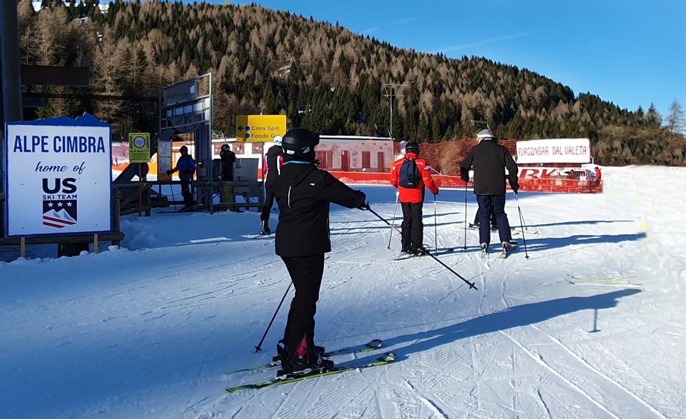 US Team trainingsbasis Alpe Cimbra