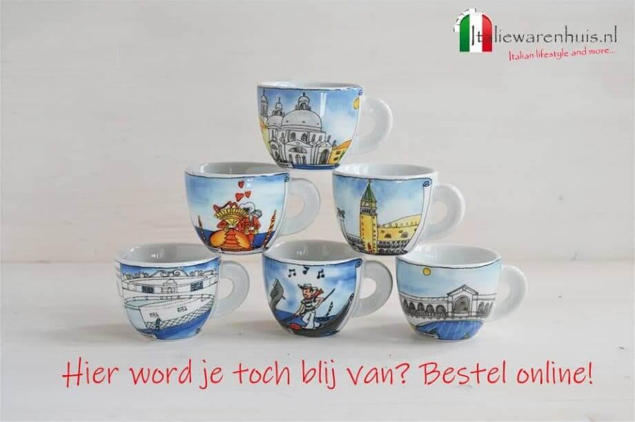 Italiaanse espressokopjes met Venetie
