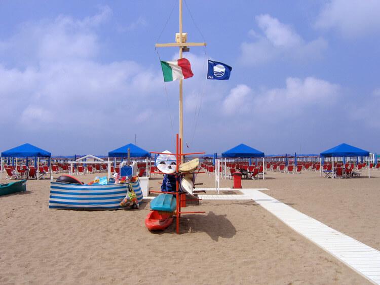 Blauwe Vlag voor Italiaanse Stranden