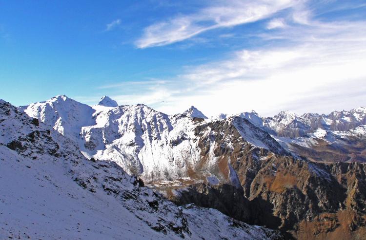 De bergen van Valle d'Aosta