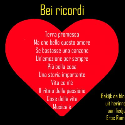 Herinneringen aan liedjes van Eros Ramazzotti