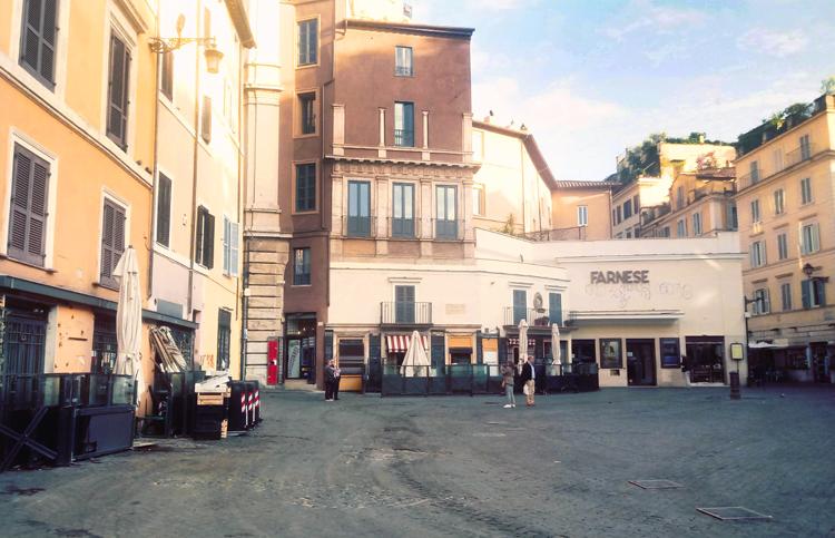 Leeg Campo de' Fiori, Rome