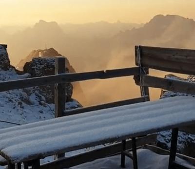 Half juli: sneeuw in Noord-Italie!