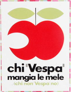 Vintage Vespa kaart in blik A5