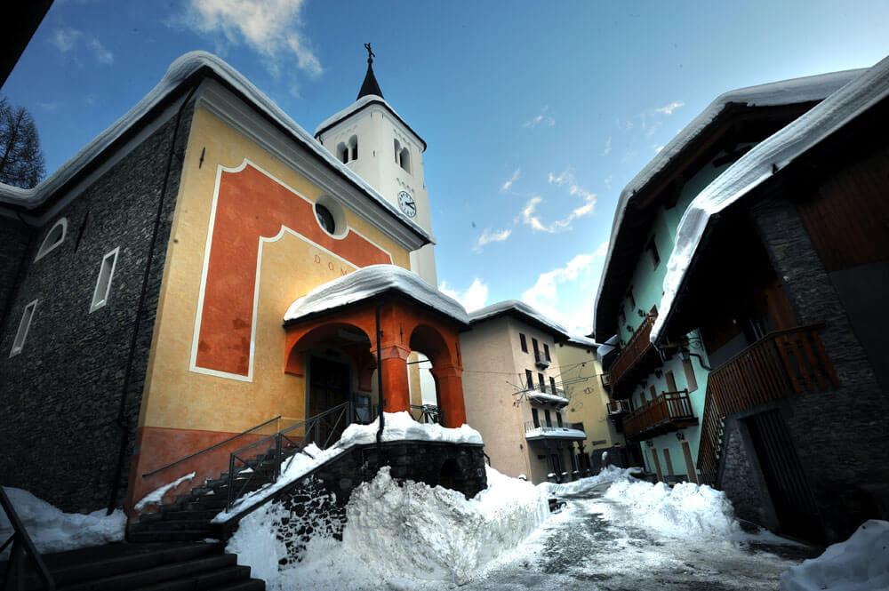 San Nicola Kerk © Consorzio operatori turistici La Thuile