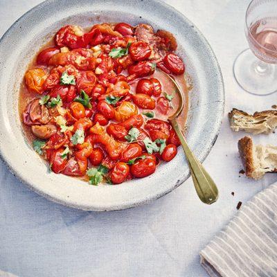 Salade van rode paprika en tomaat - Claudia Roden