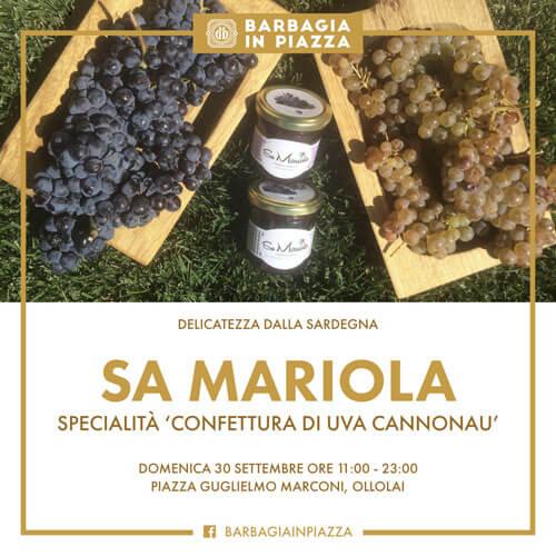 confettura di uva cannonau