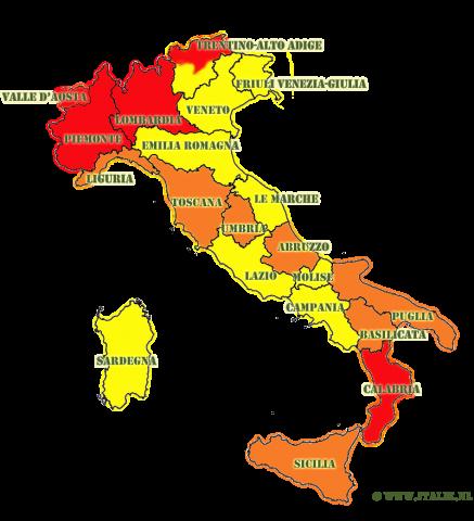 coronavirus maatregelen italie 11 november 2020