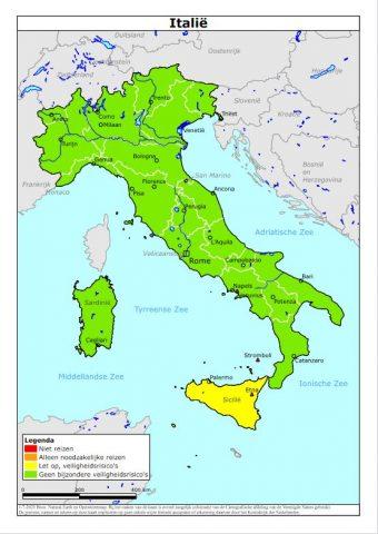 Reisadvies Italie ministerie van Buitenlandse Zaken
