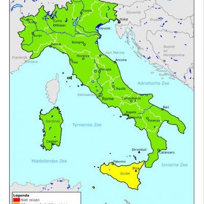 Reisadvies Italië vanuit Buitenlandse Zaken per 1 juli 2021