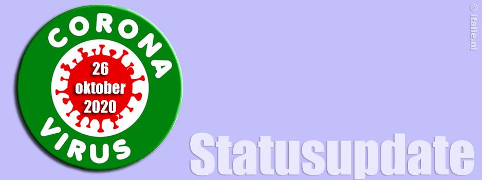 Corona virus update 26-10-20