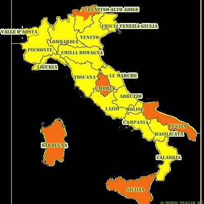 30-01-21: Groot deel Italië afgeschaald naar Zone Geel