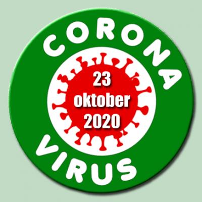 Coronavirus update 23-10-2020