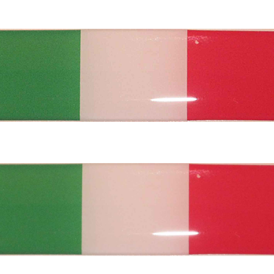 Duo stickerset Italiaanse vlag - Uitverkoop
