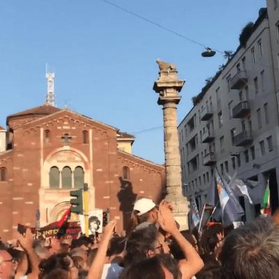 Protesten in Milaan #Europasenzamuri