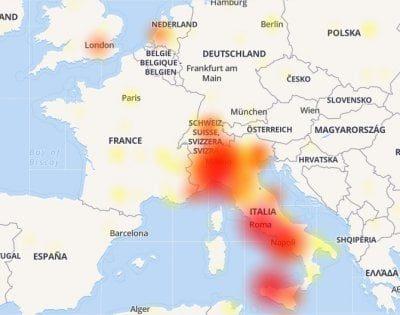 Facebook Italie down #facebookdown