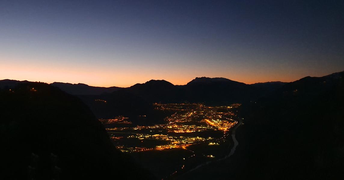 Uitzicht vanaf Hotel Miravalle in Fai della Paganella