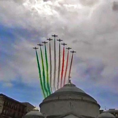 Frecce Tricolori boven Italië mei 2020
