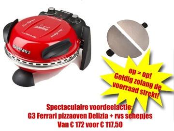 G3 Ferrari pizzaoven kortingsdeal