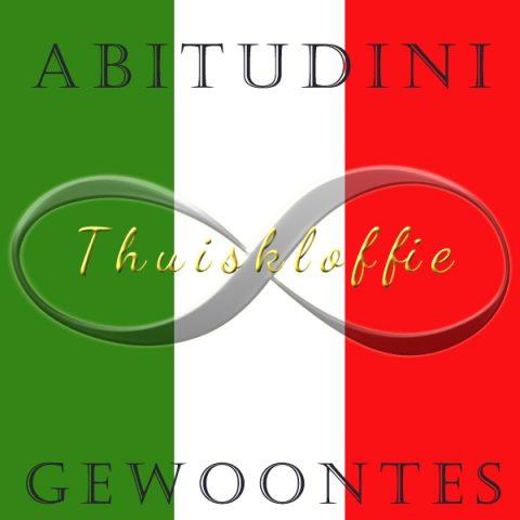 Thuiskloffie, huispak - typisch Italiaans