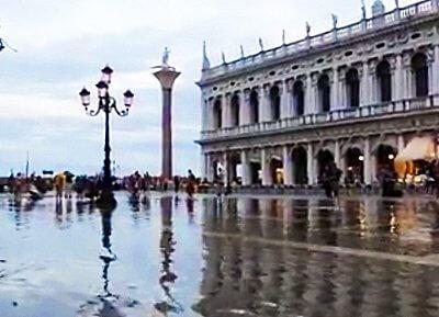 Uitzonderlijk: hoog water in Venetië in juli