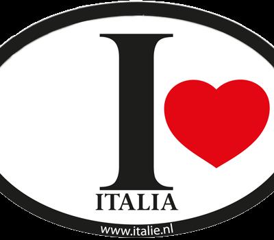 I love Italia sticker - Uitverkoop