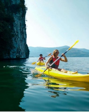 Kanoën op het Iseomeer