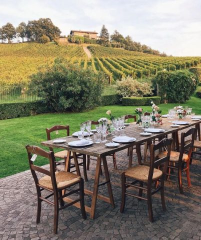 Iseomeer, lunchen in de wijngaarden van Franciacorta