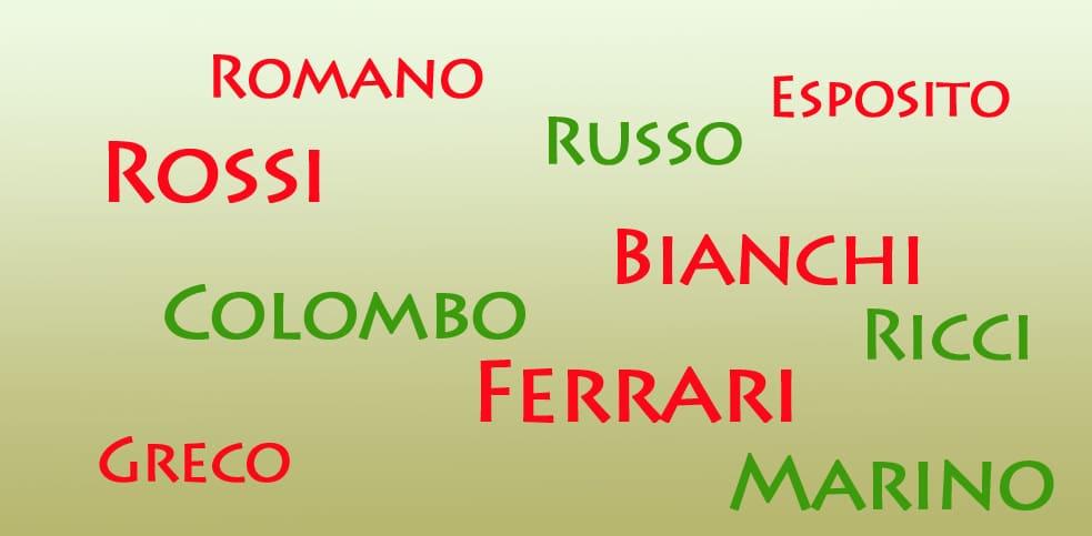Italiaanse achternamen