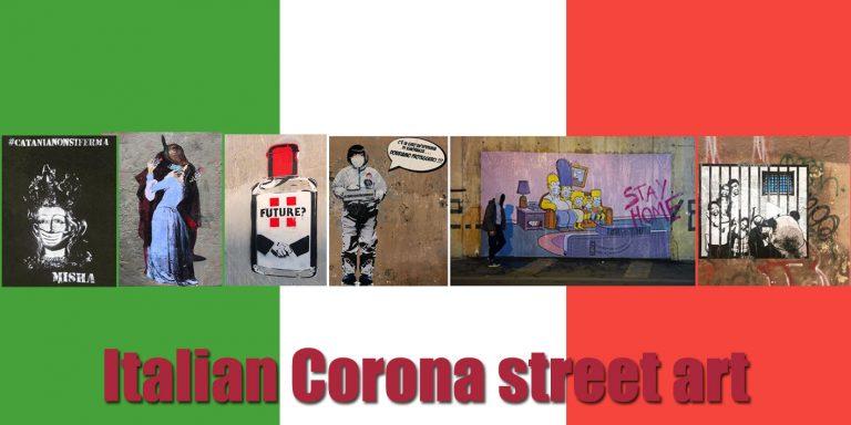 Italiaanse streetart Corona-virus