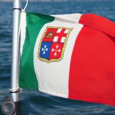 Vaargebieden op zee en meren van Italie