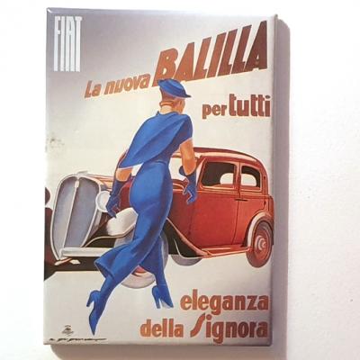 Koelkastmagneet Fiat- rechthoek uitverkoop