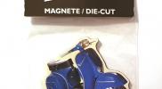 Koelkastmagneet Vespa - blauw - uitverkoop