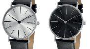 Lambretta horloge Cesare silver of Cesare black
