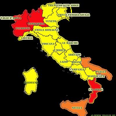 Maatregelen Italie per 6 november 2020
