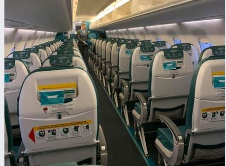 Leeg vliegtuig uit angst voor Corona