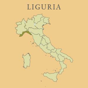 Kaart van Liguria