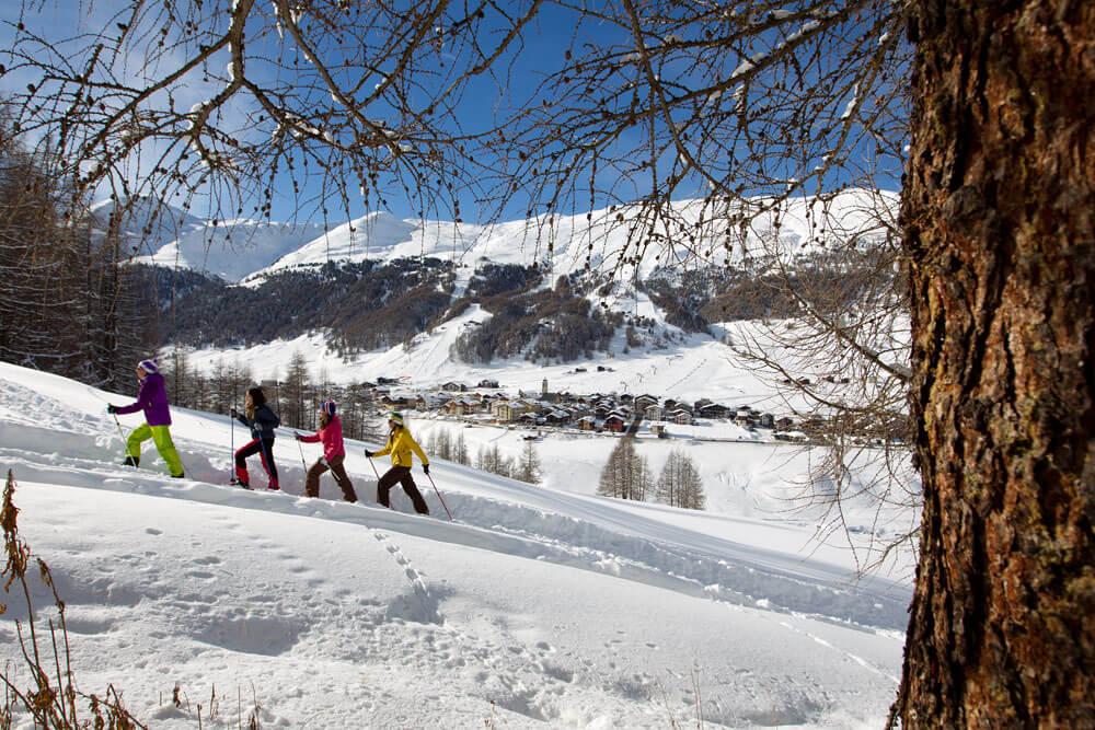 Livigno wandelen op sneeuwschoenen© RobyTrabucchi